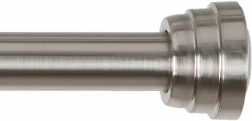 kroger everyday living decorative tension rod brushed nickel 43 72 in