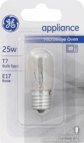 ge 25 watt e17 t7 microwave oven light
