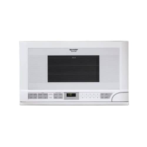 fry s food stores sharp r1211t 1 5 cu ft over the counter microwave white 1