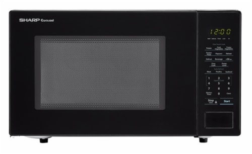 fred meyer sharp carousel countertop microwave oven black 1 1 cu ft