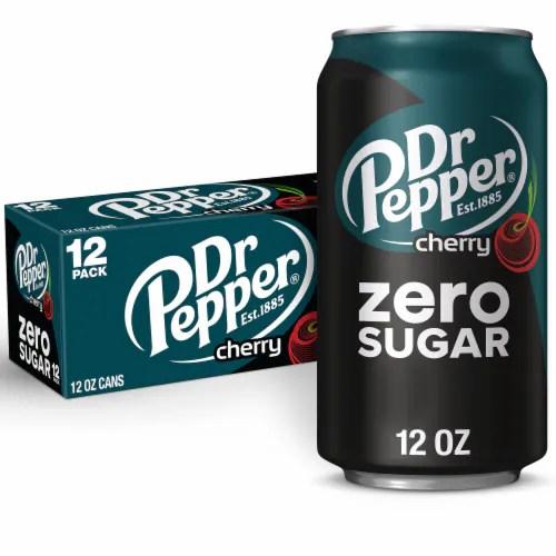 pick n save dr pepper zero sugar cherry soda 12 cans 12 fl oz