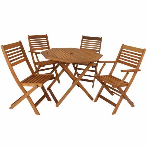 sunnydaze meranti wood 5 piece outdoor