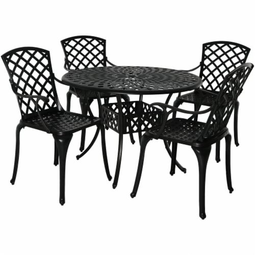 sunnydaze patio table and 4 chairs set