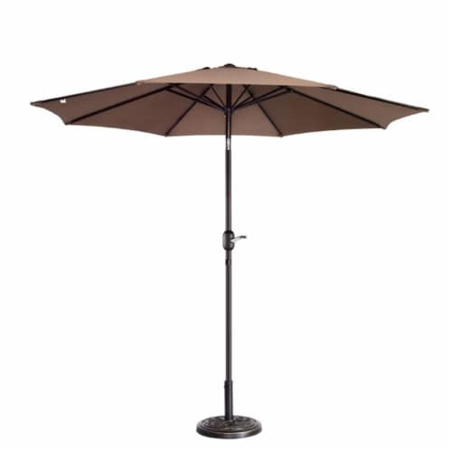 https www smithsfoodanddrug com p villacera 83 out5441 9 ft outdoor patio umbrella with 8 ribs brown 0081973202443