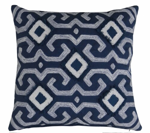 king soopers chicos home modern lin throw pillow cover navy white 20 x 20 in