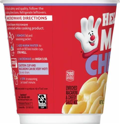 hamburger helper bold three cheese mac cheese microwave cup 2 6 oz