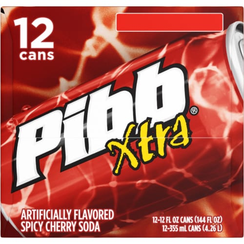 pibb xtra spicy cherry soda 12 cans 12 fl oz