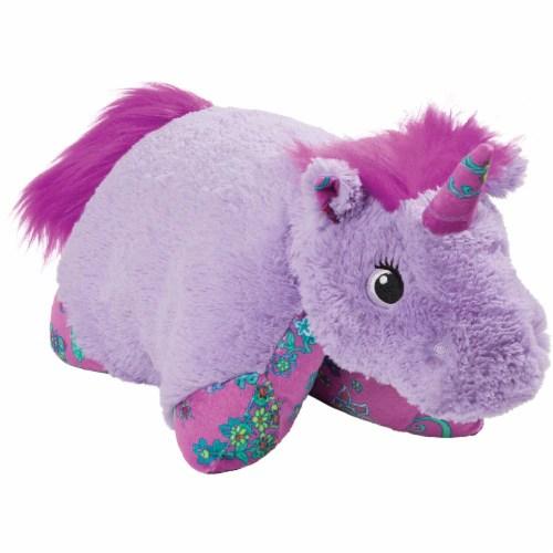 pillow pets colorful lavender unicorn plush toy 1 ct