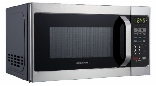 farberware classic 700 watt microwave oven brushed stainless steel 0 7 cu ft