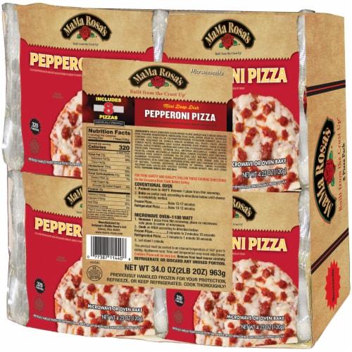 mini deep dish frozen pepperoni pizzas