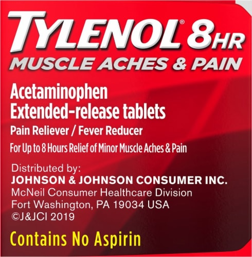King Soopers - Tylenol 8-Hour Muscle Aches & Pain Caplets ...