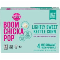 angie s boom chicka pop lightly sweet kettle corn microwave popcorn 4 count 13 16 oz