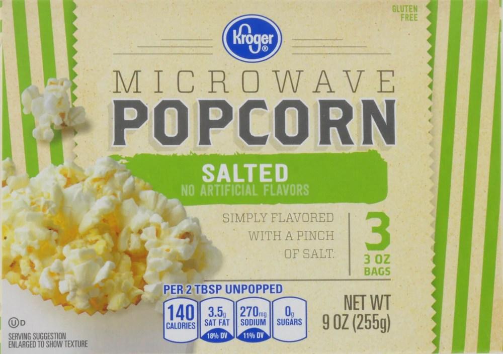 kroger salted microwave popcorn 3 ct 3 oz