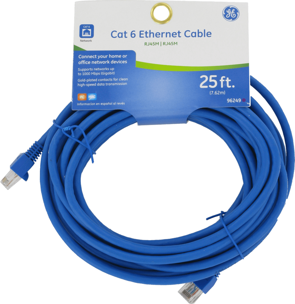hight resolution of ge cat 6 25 ft ethernet cable