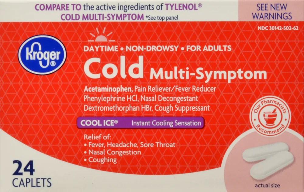 Ralphs - Kroger® Non-Drowsy Multi-Symptom Cold Cool Ice Caplets ...