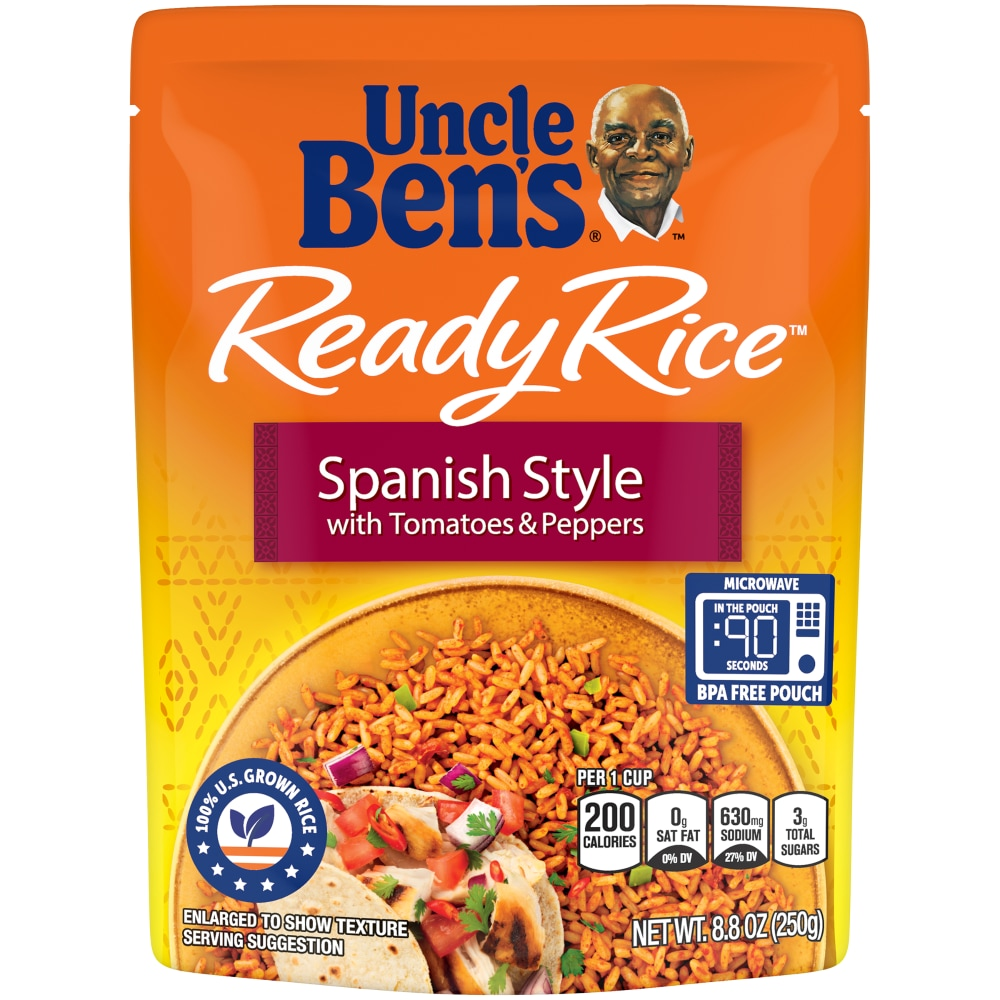 uncle ben s ready rice spanish style with tomatoes peppers rice 8 8 oz