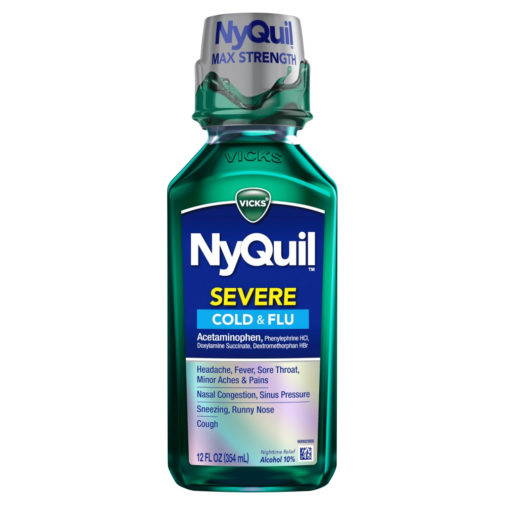 Kroger - NyQuil Severe Cold & Flu Nighttime Relief Liquid (MAX 3 ...