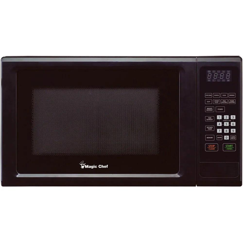 magic chef countertop microwave oven black 1 1 cu ft