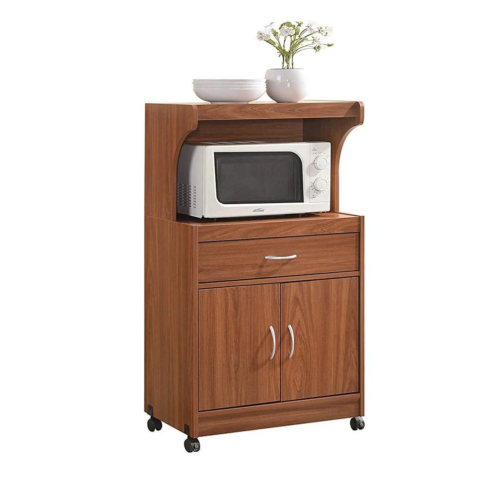 hodedah hik72 cherry microwave cart cherry 1