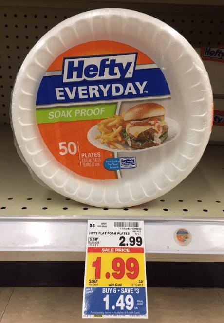 Hefty Foam Plates $.99 Kroger Mega! & Hefty Foam Plates Bowls Trays or Plastic Cups $.99 Kroger Mega ...