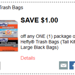 Hefty Tall Kitchen Bags Kid Craft New Trash Coupon = $5.49 With Kroger Mega Sale ...