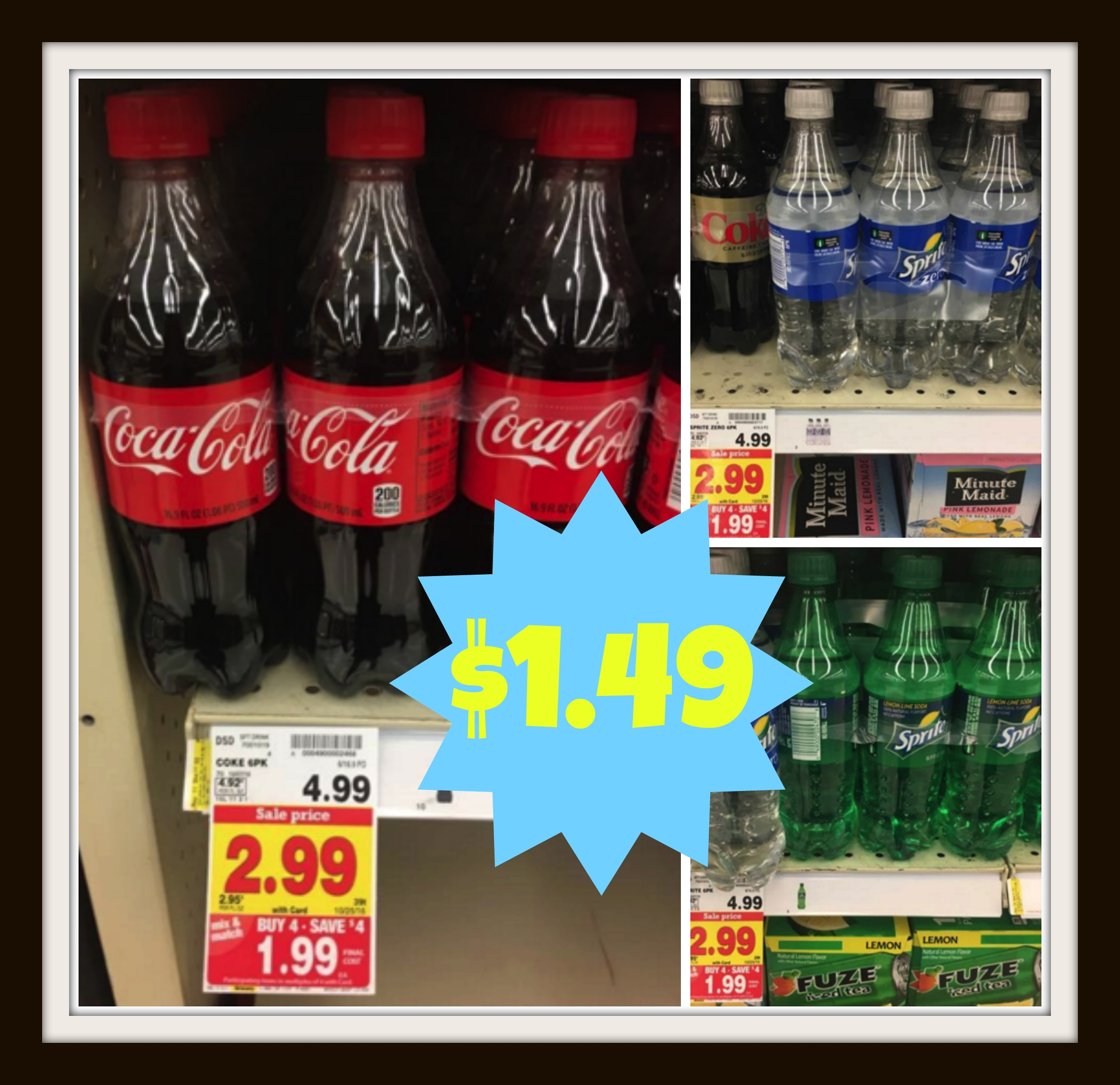 Get CocaCola Products at Kroger for ONLY 149 each Reg