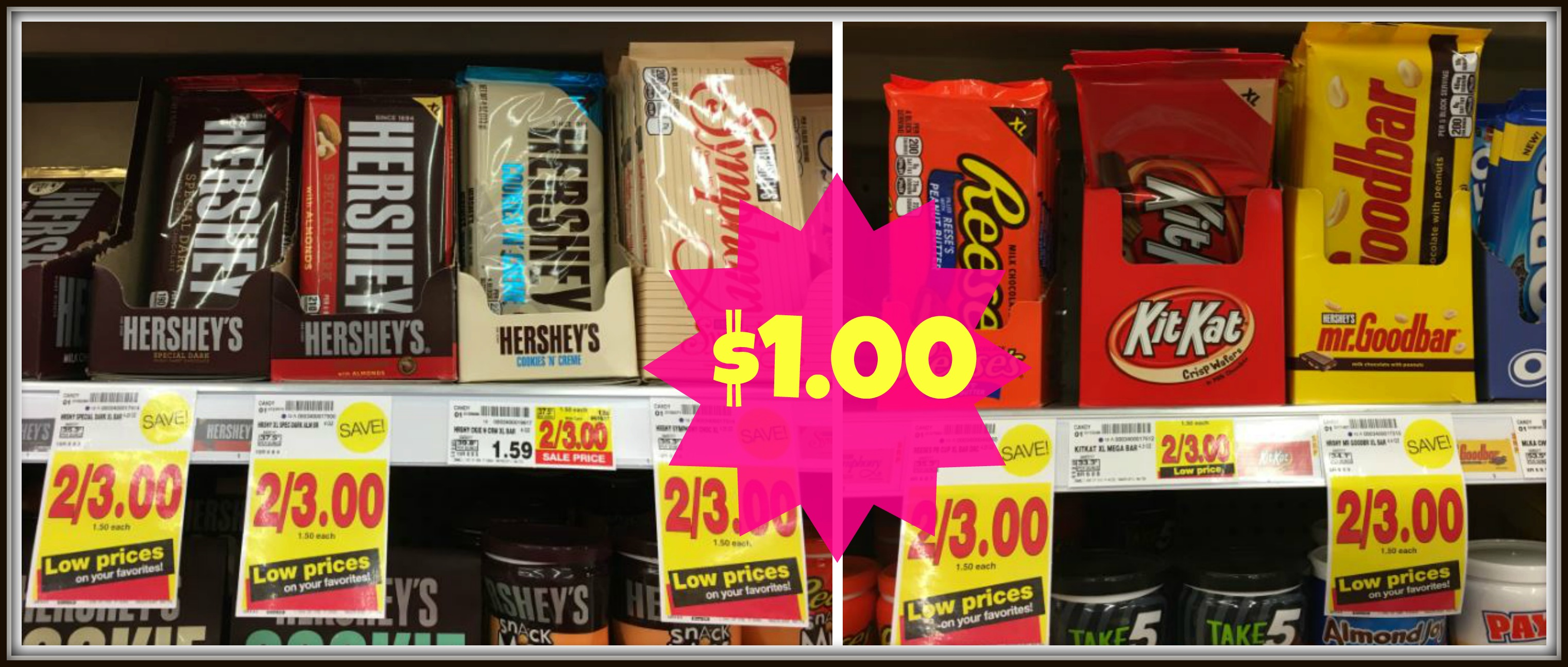 Hershey S Xl Candy Bars Only 1 00 At Kroger