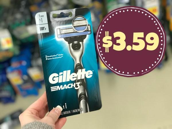 Gillette Mach3 Razor 3.59 Kroger Reg 6.59