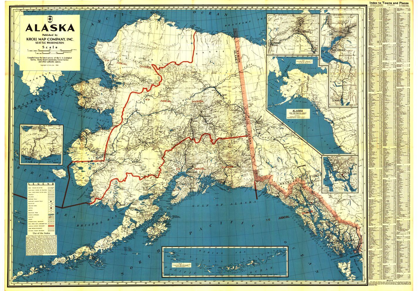 Alaska Historical Maps - Kroll Map Company