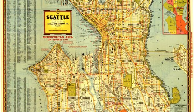 Kroll's Greater Seattle Map, circa 1947
