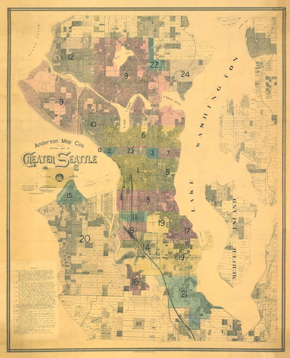 Seattle Historical Maps Kroll Map Company