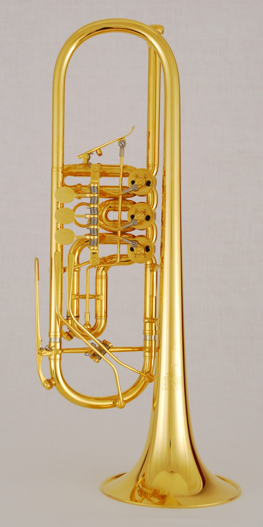 Etrumpet in Bb with rotary valves