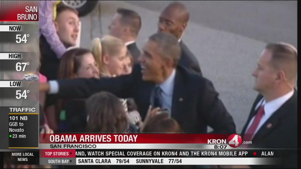 President Obama visits the Bay Area