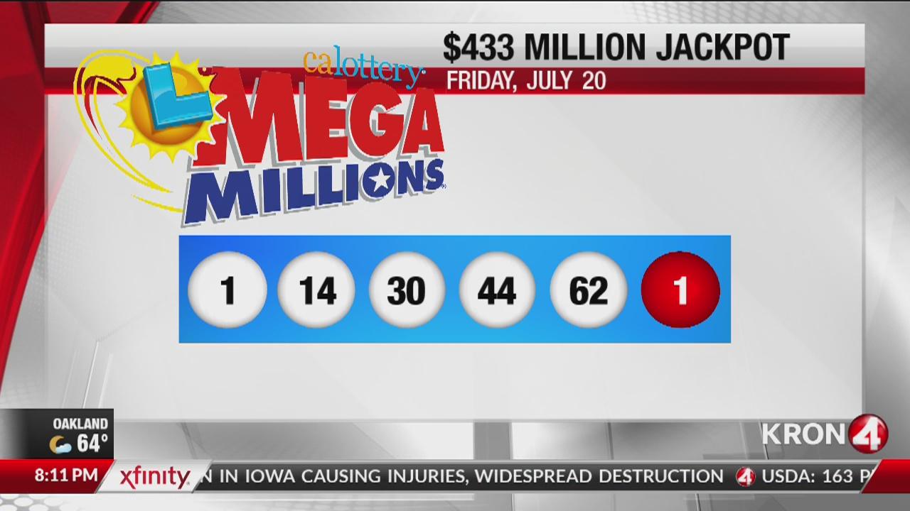 Winning numbers drawn in $433M 'Mega Millions' game