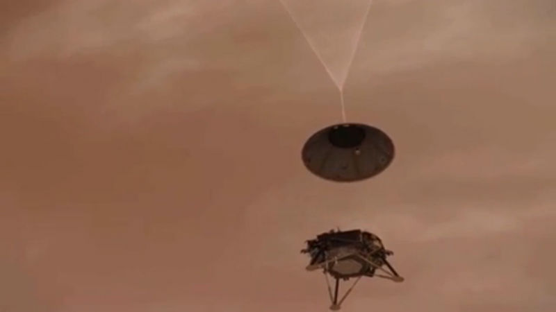 NASA spacecraft successfully touches down on Mars