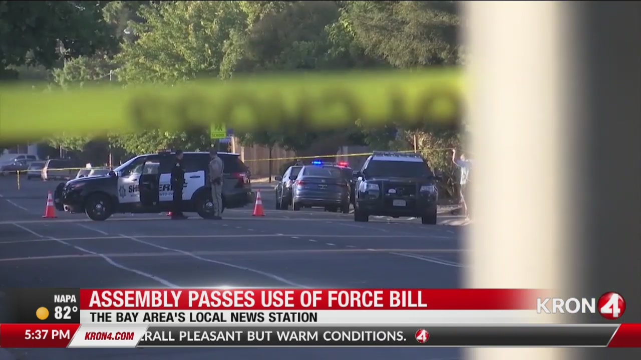 California Assembly OKs bill to deter shootings by police