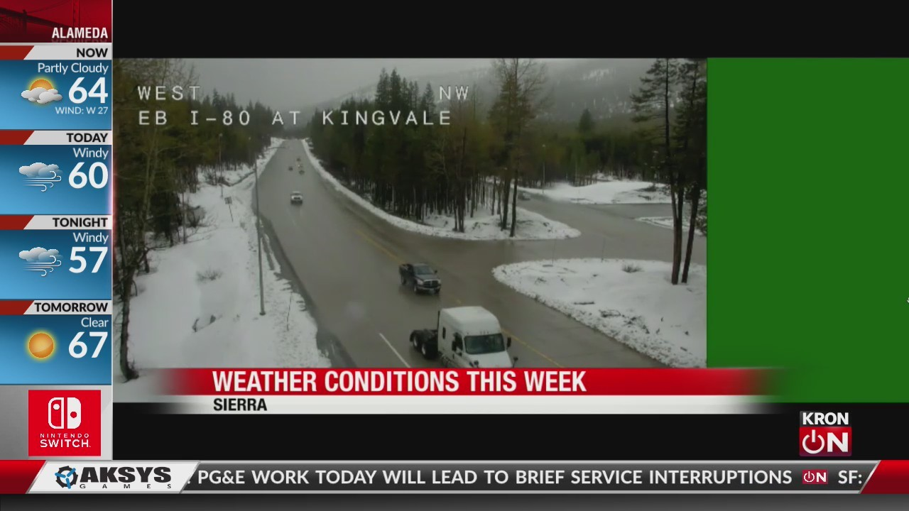 Weather conditions this weekend in the mountains