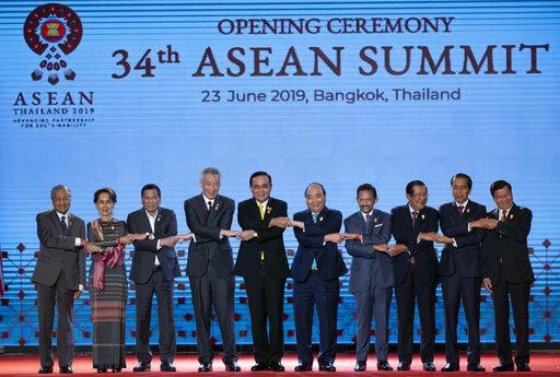 Mahathir Mohamad, Aung San Suu Kyi, Rodrigo Duterte, Lee Hsien Loong, Prayuth Chan-ocha, Nguyen Xuan Phuc, Hassanal Bolkiah, Hun Sen, Joko Widodo, Thongloun Sisoulith