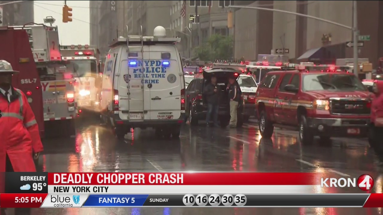 Deadly chopper crash in  New York
