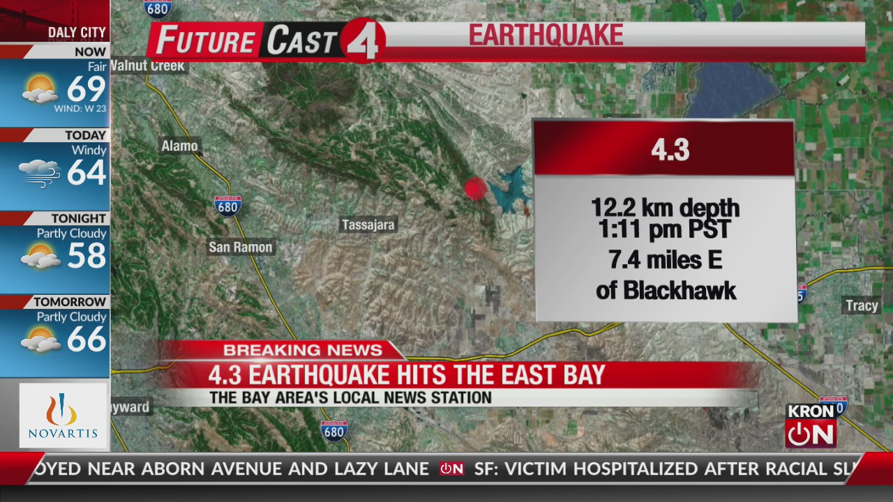 Magnitude 4 3 earthquake rattles East Bay | KRON4