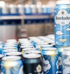 filling cans a premiere for krombacher [ 1280 x 723 Pixel ]