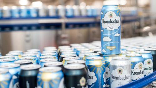 small resolution of filling cans a premiere for krombacher