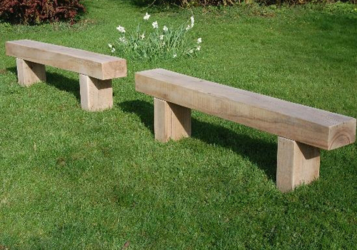solid timber park benches