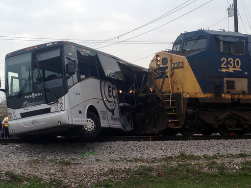 APTOPIX Train Bus Accident_546767