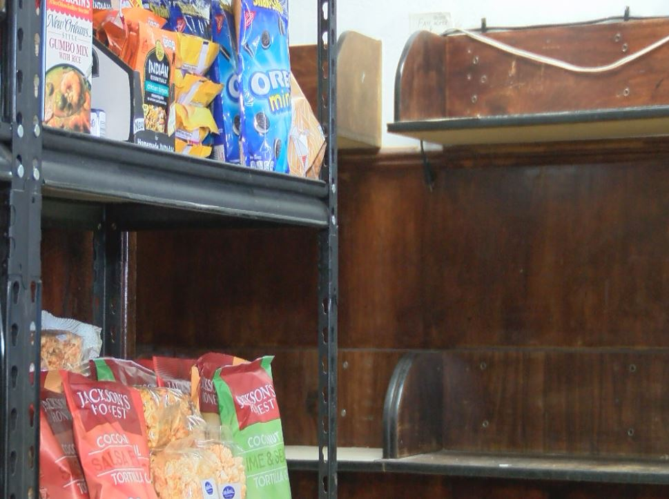 Empty shelves at St. Felix Food Pantry in Rio Rancho_648186