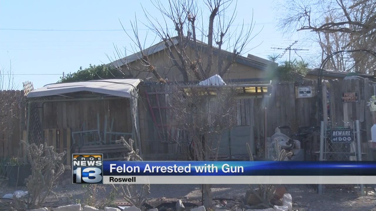 felon arrested with gun_772408