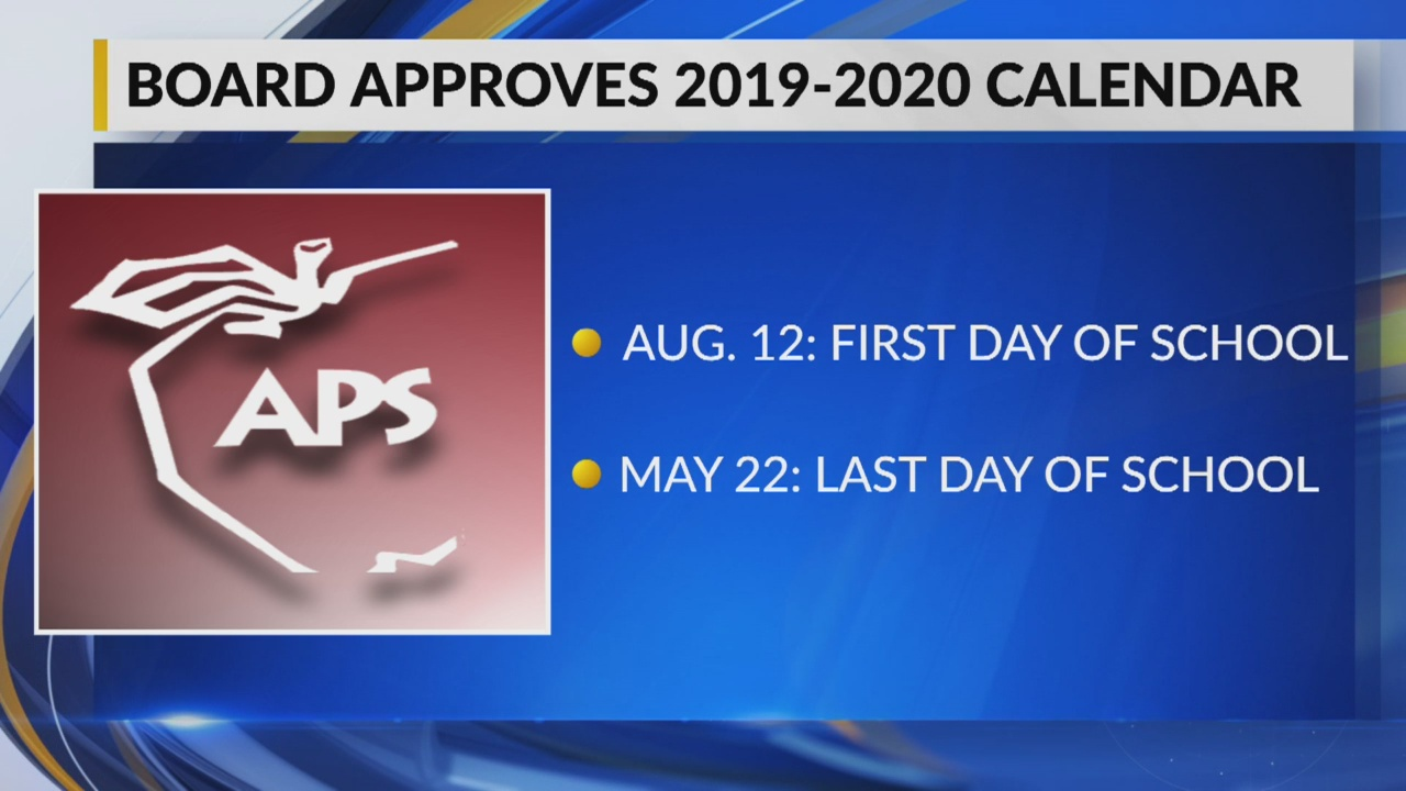 Aps 2020 Calendar APS approves calendar for 2019 2020 school year