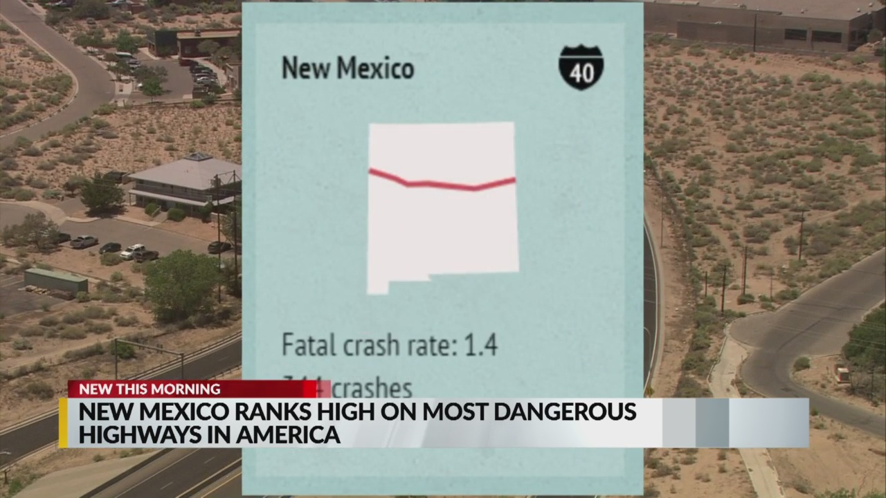 New Mexico ranks high on 'Most Dangerous Highway in America' list
