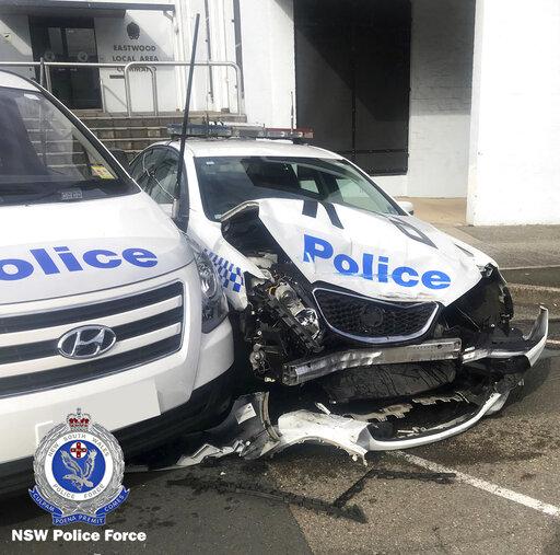 Sydney police find drug haul in van that hit police cars
