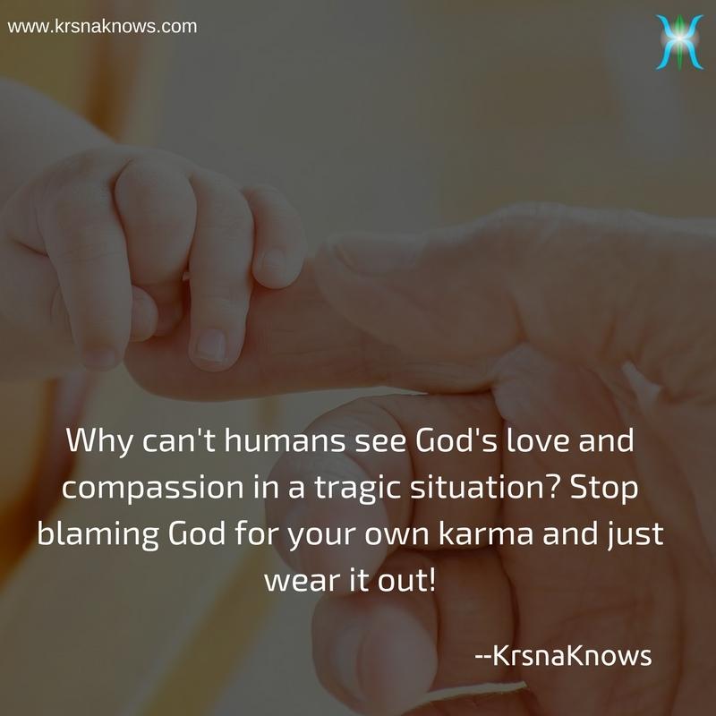Stop blaming God